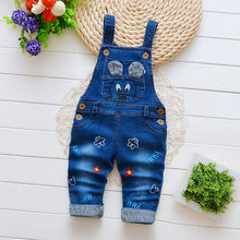 IENENS Kids Baby Boys Long Pants Denim Overalls Dungarees Infant Boy Jeans Jumpsuit Clothes Clothing Playsuits Trousers(China)