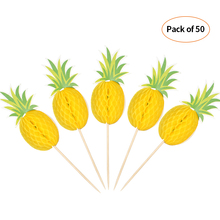 50pcs Toothpick 3D Cartoon Fruit Food Toothpicks Cake Picks Decor for Beach Wedding Birthday Pool Party Pineapple Decorations цена
