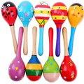1 pcs Crianças Bola De Madeira Brinquedo Chocalho Areia Martelo Chocalho Educacional Aprendizagem Musical Instrumento de Percussão Para O Bebê 0-12 mês Quente