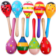 1 шт. Детские деревянный шар игрушка-погремушка песок Молотки Погремушка обучения ударный музыкальный инструмент для ребенка 0-12 месяц Горячий