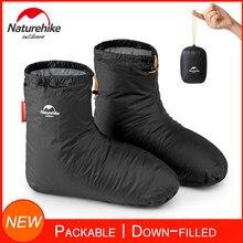 Naturehike botas de chinelos cheios de calçados, para o inverno, femininas, quente, macias, acessórios para dormir