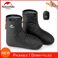 Naturetrekking bottes fourrées pour hommes femmes chaussons chaussettes chaudes chaussures souples pour hiver Camping sac de couchage accessoires