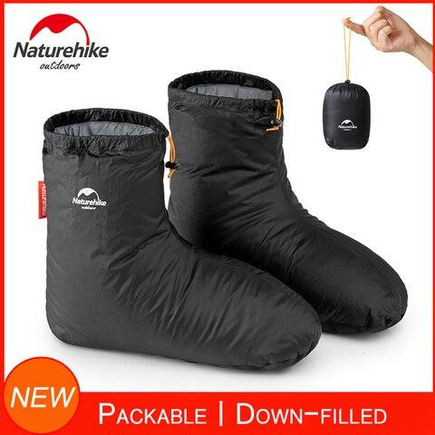 naturehike para baixo cheio chinelo botas para homens mulheres botas meias quentes calcados macios para