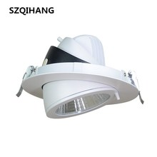 купить Super Bright LED Trunk Downlight COB Ceiling 10W 20W 30W 40W AC85-265V Adjustable recessed Indoor Light cob led Spot light онлайн