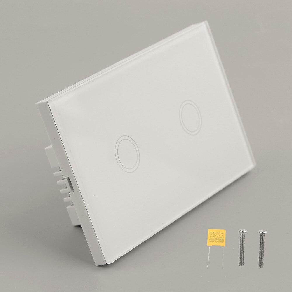Casa Inteligente Panel de Cristal Blanco cristal 1 Circuito caliente EE. UU. enc