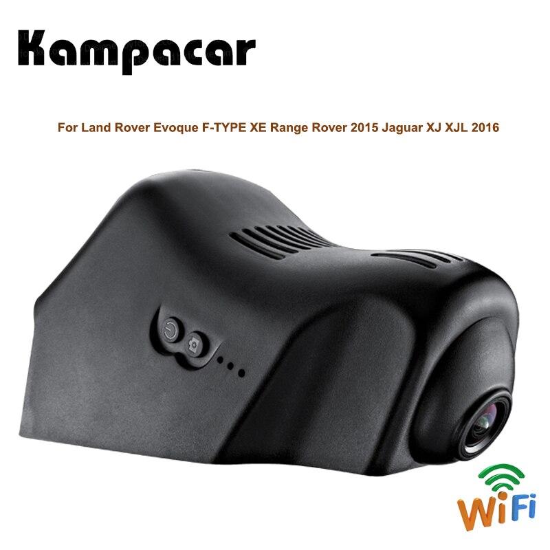 Kampacar HD Wifi voiture Dvr caméra enregistreur vidéo double caméra de bord pour Land Rover Evoque F-TYPE XE Range Rover 2015 Jaguar XJ XJL 2016
