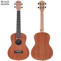 Professional 26 Inch 18 Fret Tenor Ukulele Acoustic Guitar Sapele Wood Ukelele Hawaii 4 String Guitar