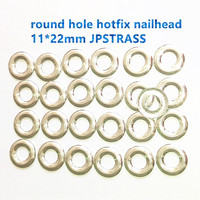 new arrival clothing nailheads hot fix round with hole silver color 11*22mm 720pcs each lot original korean hotfix nailhead
