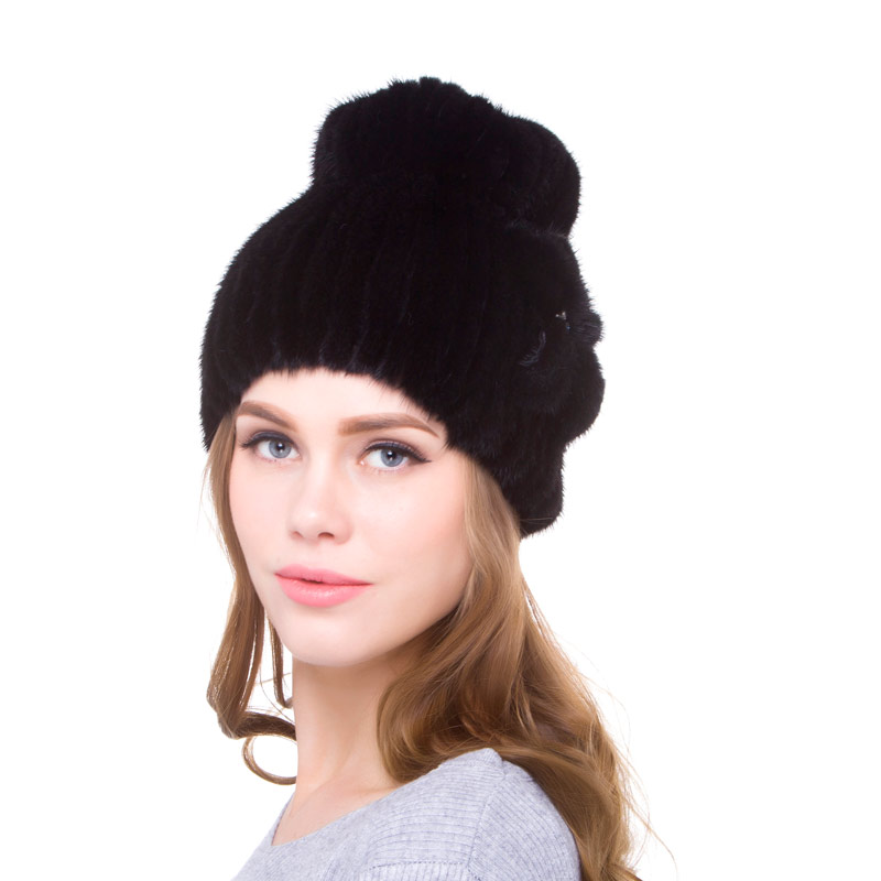 Women's autumn and winter mink fur hat warm and comfortable real fur hand-woven 2018 fashion new discount strength business
