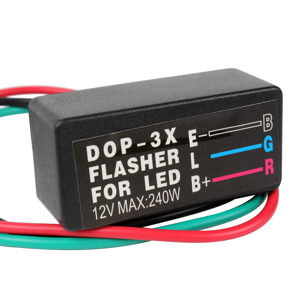 Universal Motorcycle Blinker Relay High Quality LED Turn Signal Light Flasher 12V 3 Pin Moto Accessories