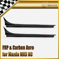 Car Accessories For Mazda MX5 NC NCEC Roadster Miata FRP Fiber Glass GVN Style Side Skirt Fiberglass Exterior Door Body Kit Trim