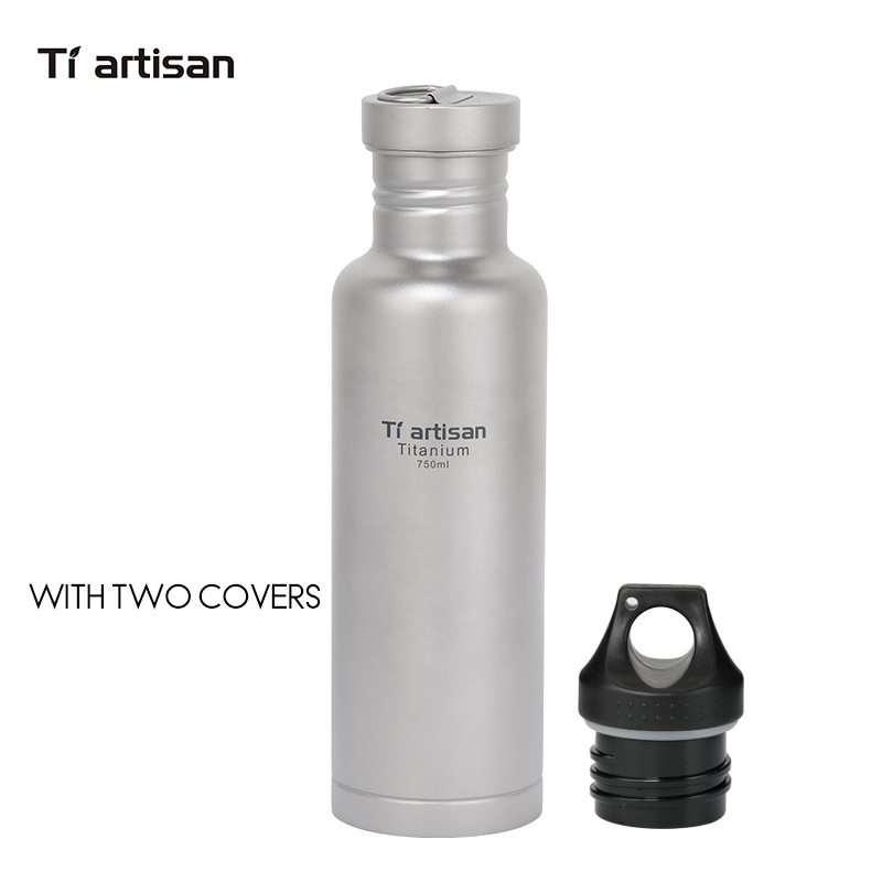Tiartisan Titanium Cycling Water Sport bottle 750ml Lightweight Camping Drinkware with Titanium lid and plastic lid Ta8388 цена
