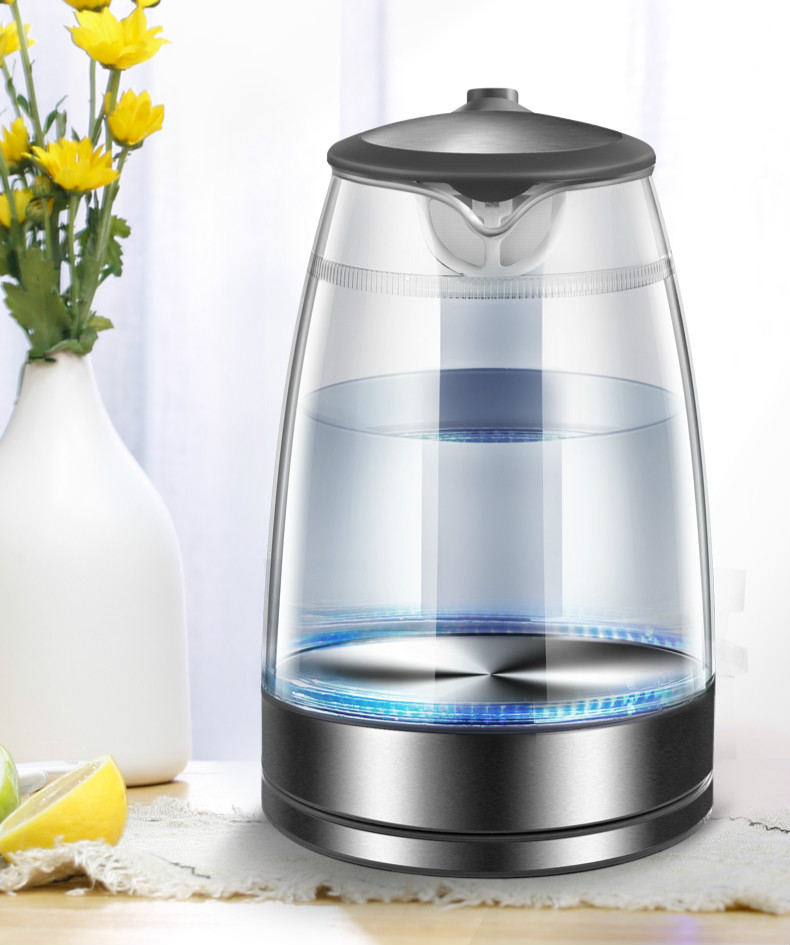 Glass electric kettle anti-heat explosion-proof household transparent automatic power cut multi-functional boiling water high quality industrial used small power heater use in areas with explosion hazard 150w explosion proof heater