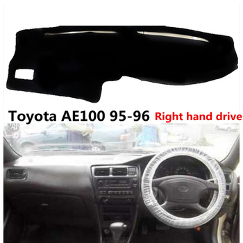 Taijs Car Dashboard Mat For Toyota AE100 1995-1996 Right Hand Drive Auto Dash Board Rug Cover image