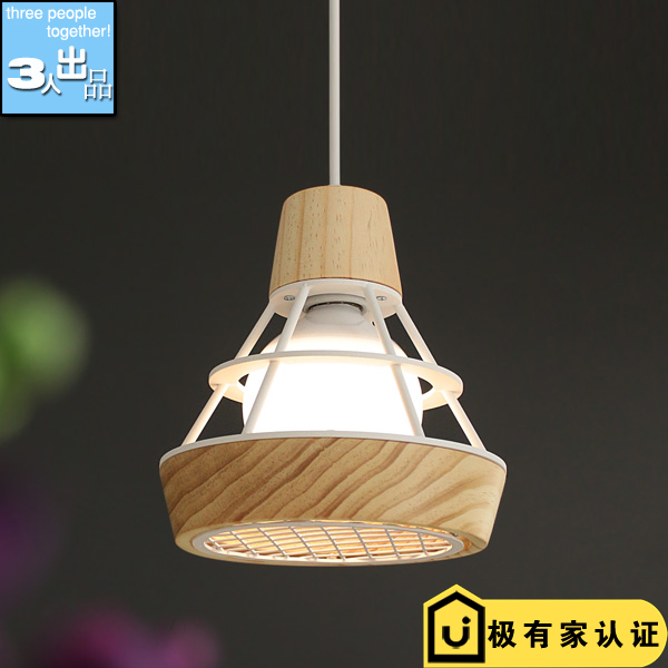 Nordic style modern wooden E27 Pendant Lights  dining room bedroom balcony bar aisle lighting modern simple european style dining room lighting american hollow carved iron bedroom pendant lights