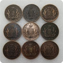 1764-1780 rússia 5 kopecks moeda copiar moedas comemorativas-réplica moedas medalha moedas colecionáveis