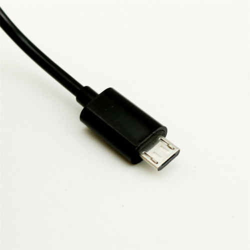 1pc Micro USB B 5 Pin Male To Mini USB B 5 Pin Male Spiral Coiled Adapter Cable 3FT