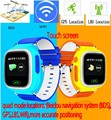 """DHL 2016 Kids Safe Q90 GPS tracking Watches touch screen 1.22"""" Wristwatch G72 SOS Call Finder Locator Tracker for Kid Anti Lost"""