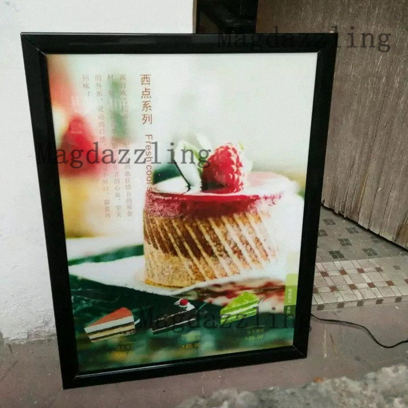Commercial Lighting Restaurant Led Menu Signage Aluminum Frame Slim Led Advertising Light Boxes 60x80cm For Restaurant/fast Food Store