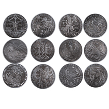 Holiday Souvenir Gifts Twelve Constellations Bronze Coin Christmas Crafts Home Decoration Accessories  Collectables