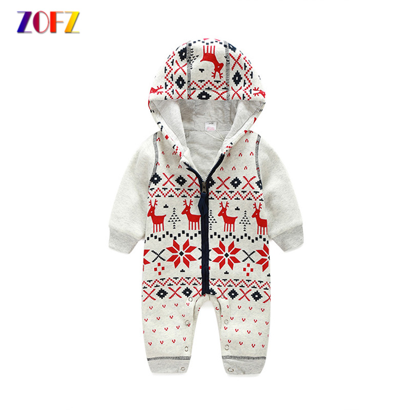 ZOFZ New Baby Clothes Long Sleeve print jumpsuit Cute Autumn baby rompers for girls cotton one piece clothing for new born bebes
