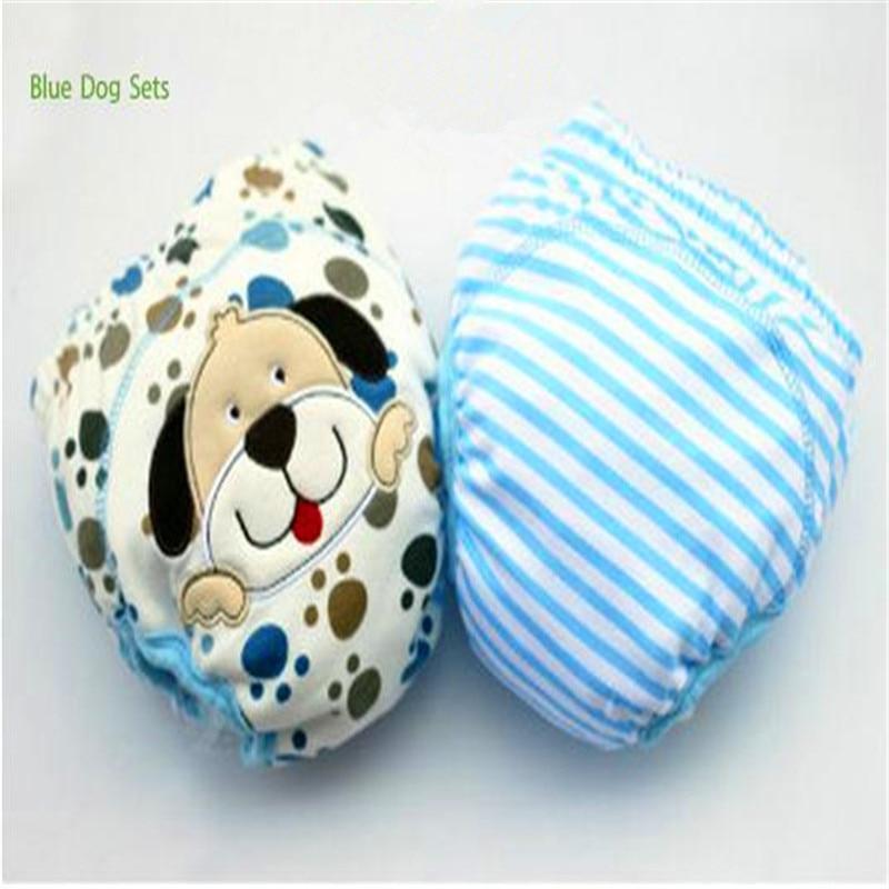 2 unids / lote 4 Capas Impermeable Paño Del Bebé Pañales Boy - Pañales y entrenamiento para ir al baño - foto 2