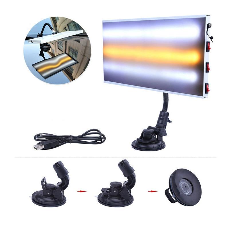 Tools LED Light Paintless Dent Repair Hail Removal 3 Strips Car Body font b Lamp b