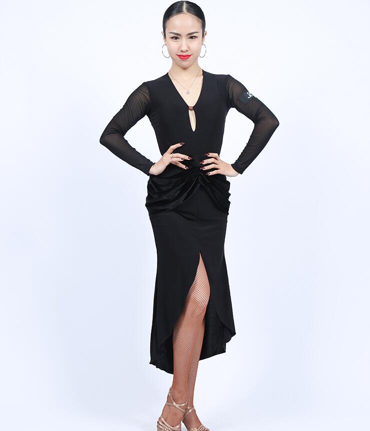 Robe latine fête salle de bal danse latine & spectacle fille/robe de salon femme robe latine danse