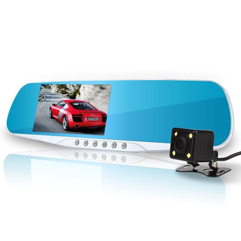 newest night vision car dvr detector camera blue review mirror dvr digital video recorder auto camcorder dash cam fhd 1080p