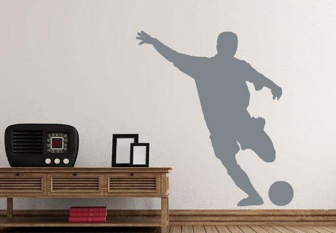un hombre que juega ftbol extrable tatuajes de pared de vinilo pegatinas decoracin de paredes papel