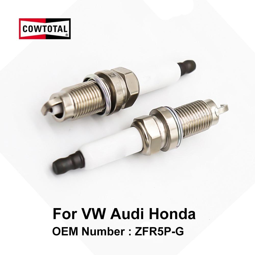 COWTOTAL Iridium Spark Plug For Volkswagen Sharan Audi A3 Honda Accord OE ZFR5P-G ( Pack Of 4 )