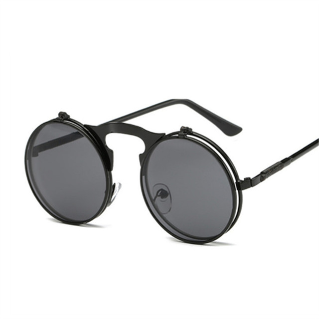 Retro Protective Round Shaped Mirror Steampunk Sunglasses