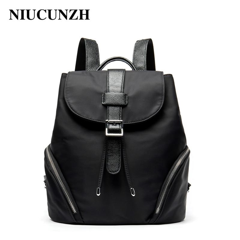 NIUCUNZH Oxford sac à dos femme noir cartable pour filles grande capacité sac à dos pour ordinateur portable/documents sacs à dos de voyage 1812