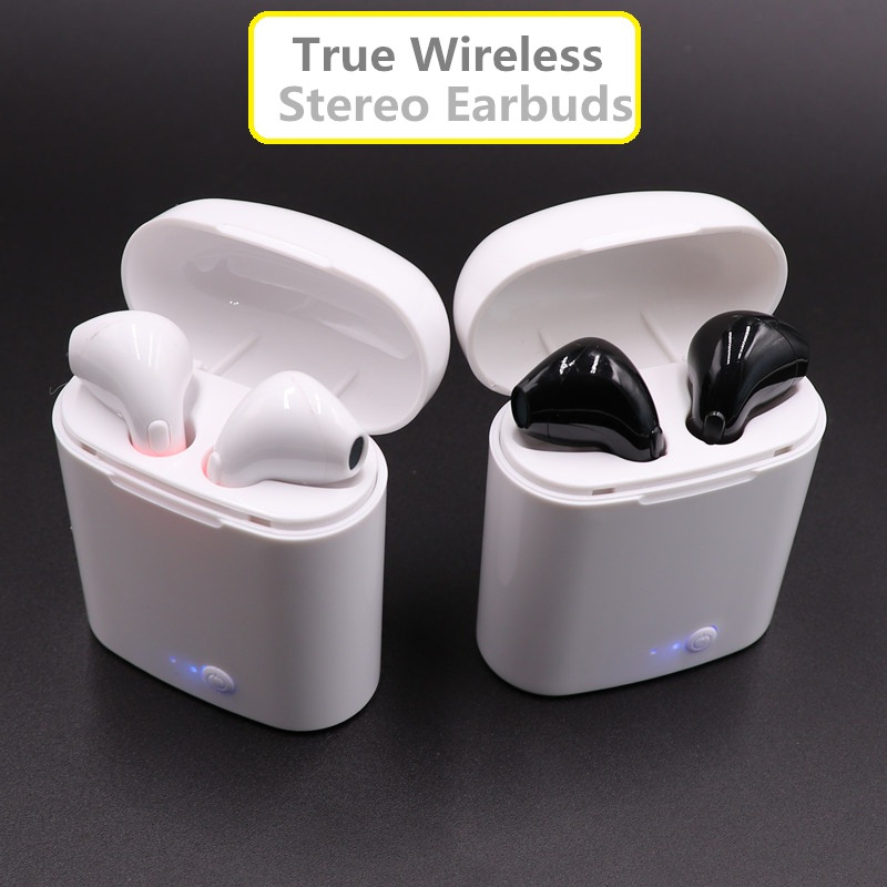 New TWS-I7S mini Bluetooth Earbuds double ear Wireless Headsets headphones wireless air pods earphone for apple Andorid Iphone