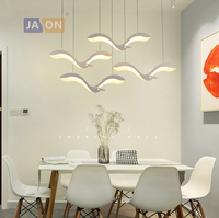 LED Nordic Iron Acrylic Sea Gull White LED Lamp LED Light.Pendant Lights.Pendant Lamp.Pendant light For Dinning Room