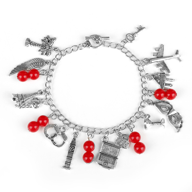 Fifty Shades Of Grey Women Fashion Charm Bracelet Inspired 50 Shades Charms Tie Handcuffs Gray Bracelets Crime Bracelet -25