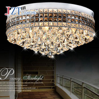 Z Modern 3W 3 D60 H30CM LED K9 Crystal Round Ceiling Lamp For Bedroom Balcony Restaurant