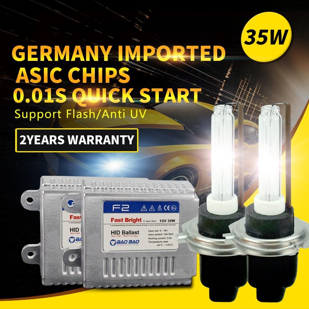 цена на Fast-start Strongest Car AC Full Digital headlight ballast 35W F2 HID Xenon kit for car styling h1 h4 h7 h11 for Hyundai Nissan