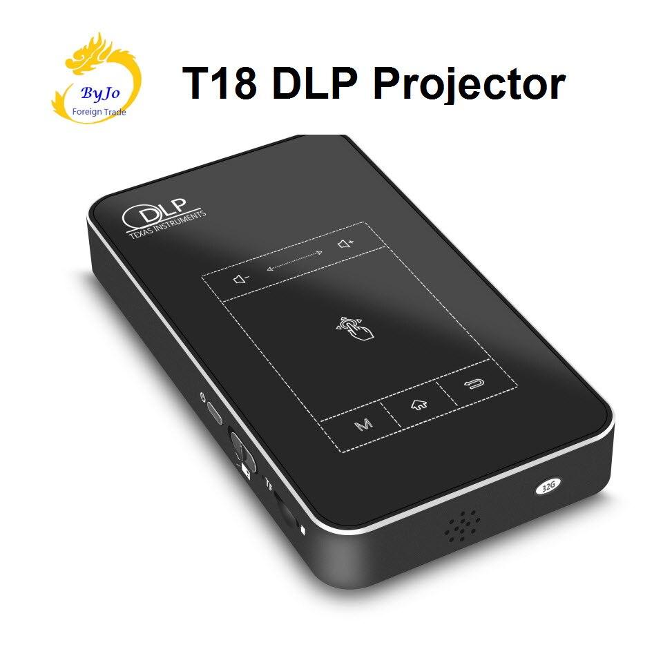 T18 DLP Mini projecteur Android 4.4 portable WIFI 1G RAM 32G ROM projecteur tablette tactile batterie 5000 mAh Bluetooth