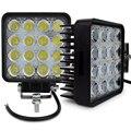 2 pcs 4 INCH 48 W LED TRABALHO LIGHT LUZ OFFROAD nevoeiro Flood/spot inundação 24 V 12 V led luzes de trabalho do trator off road 4X4 ATV carro BARCO