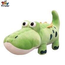 Creative Cartoon Reallife Green Crocodile Plush Stuffed Doll Toys Pillow Cushion Home Decor Kids Baby Boy Birthday Gift Triver стоимость