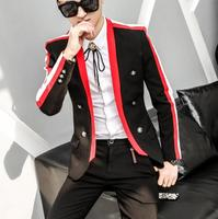2019 men's Korean suit jacket singer DJ stage star with the same paragraph casual suit men's dress small suit tide hairstylist