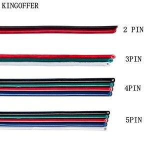 2/3/4/5PIN RGB RGBW przedłużacz kabla przewód zasilający adapter 5/10/20/30/50/100M dla 2835 5050 w2811 w2812 led diody na wstążce