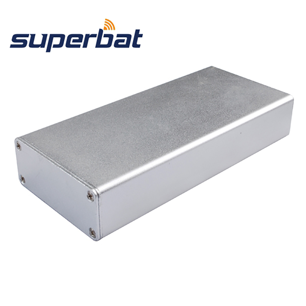 Extruded Silver Aluminum Box Case Electronic Projects Instrument PCB Amplifier DIY Enclosure 4.32″*2″*0.82″(L*W*H) 110*51*21 MM