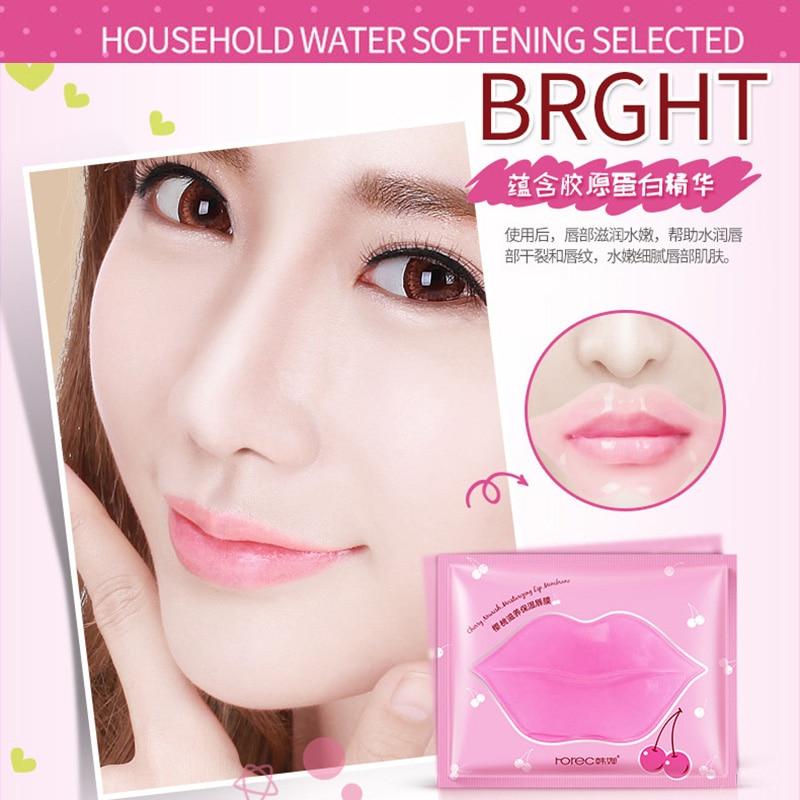 Beauty Pink Collagen Lip Mask Care Gel Mask Membrane Moisture Essence Anti-Ageing Crystal Pads Lip Membrane Lips Skin Care 2