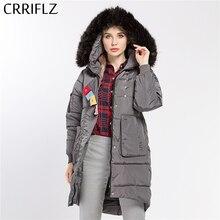 Fashion Winter Women Loose Warm Hooded Coat Jacket Female Woman Parka Long Fur Winter Coat Women CRRIFLZ New Winter Collection