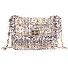 Brand pearl Crossbody Bags For Women 2019 Winter Luxury Handbags Designer Small Women Messenger Bags  bolsa feminina luxury handbags women bags designer brand famous velvet messenger small shoulder crossbody bags for women 2018 bolsa feminina