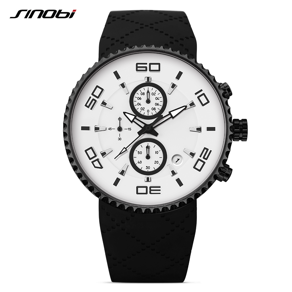 SINOBI Sports Watches Chronograph Military-Clock Quartz Men's Male Luminous Relojes Hombre
