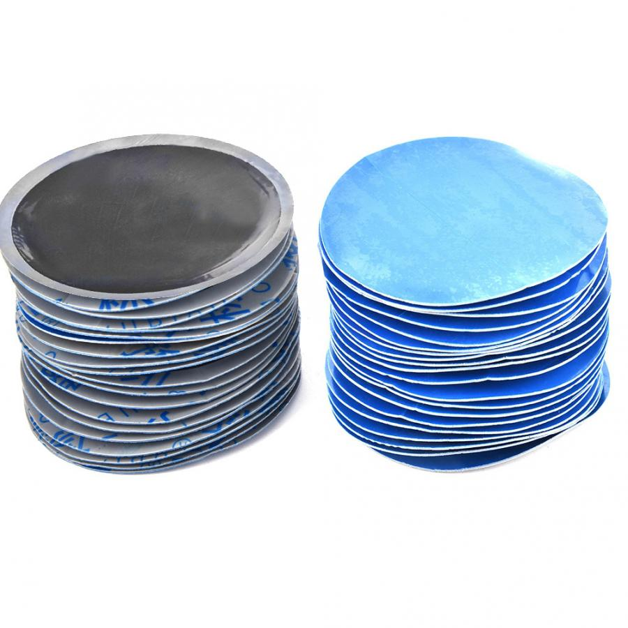Tire Repair Patch,80Pcs//Box 58mm Car Round Natural Rubber Tire Tyre Puncture Repair Cold Patch Tubeless Patches