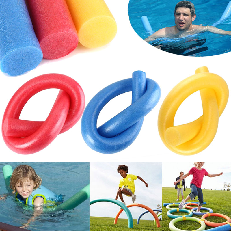 2019 Wholesale Universal Floating Kick Board Noodle Solid Core Water Float Foam Outdoor Sports Swimming Pool Security Equipment